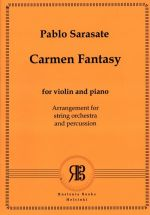 Carmen Fantasy for violin and orchestra. Arrangement for string orchestra and percussions by Vladimir Agopov. Score & parts