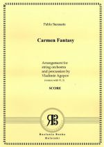 Carmen Fantasy for violin and orchestra. Arrangement for string orchestra and percussions by Vladimir Agopov. Score & parts. (Version with Violin 1-2-3 without violas)