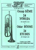 24 Etudes for trumpet solo. Senior forms of Children Music School