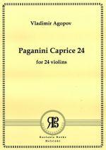 Paganini Caprice 24 for 24 violins. Score & parts.