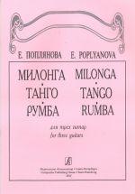Milonga. Tango. Rumba for three guitars