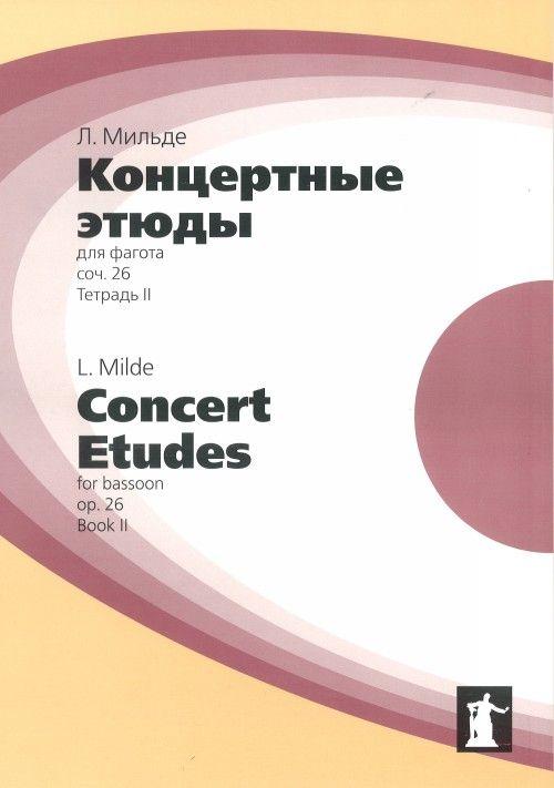 Concert Etudes for Bassoon. Op. 26. Vol. II