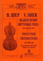 Twenty-four virtuoso etudes for violin solo. Book 2