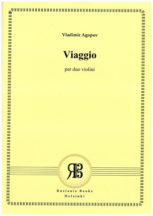 Viaggio. Piece for two violins. Op. 24