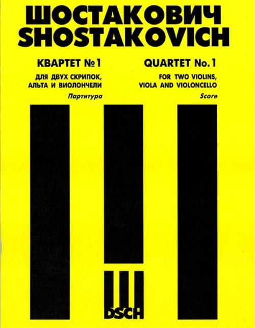 String Quartet No. 1.  Op. 49. Score.