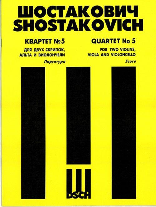 String Quartet No. 5. Op. 92. Score.