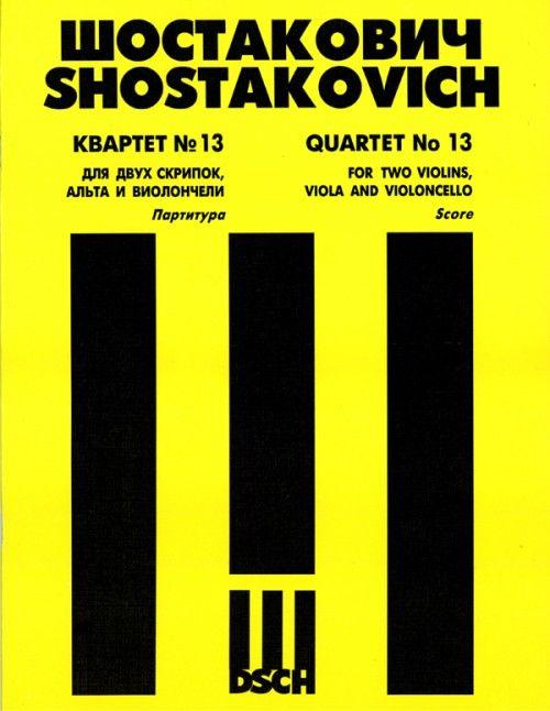 String Quartet No.13. Op. 138. Score.