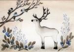 Post card: Reindeer (big)