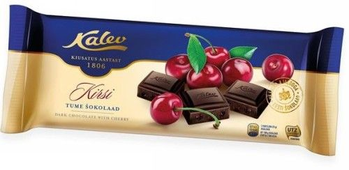 "Dark chocolate with a cherry, 200g. ""Kalev""Kirsi"