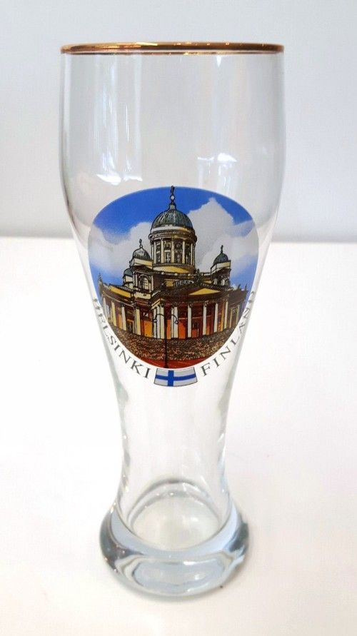 Souvenir beer glass 0.3 l -Cathedral Helsinki-Finland