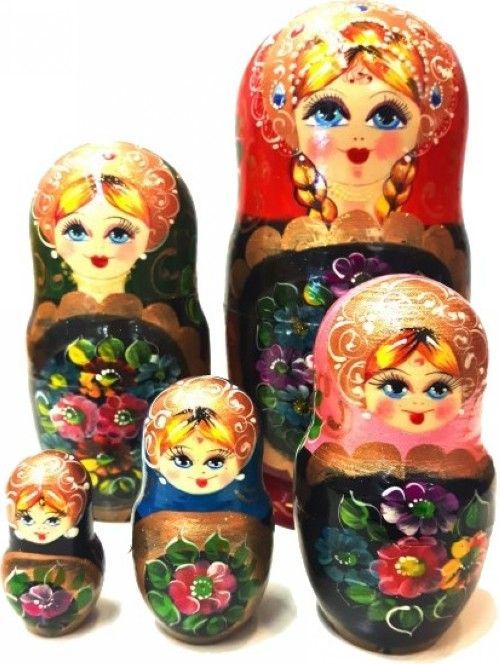 Matreshka Matryoshka (Nesting doll): Golden hair - 5 pieces