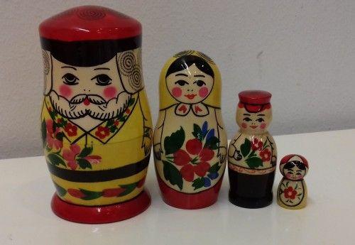 Matreshka Matryoshka (Nesting doll) Semenovskaja Family 4 pieces