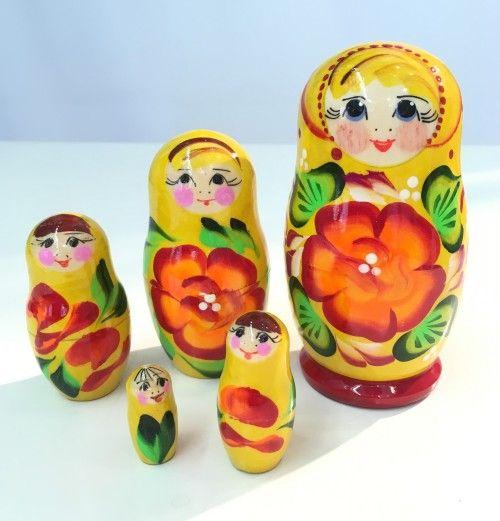 Matryoshka Flowers, 5 items
