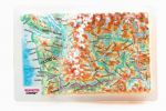 Washingon State. High raised relief panorama. 3D Fridge magnet