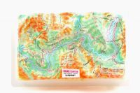 Grand Canyon. High raised relief panorama. 3D Fridge magnet