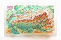 Great Smoky Mountains. High raised relief panorama. 3D Fridge magnet