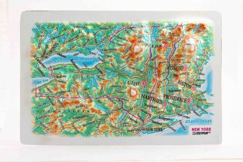 New York State. High raised relief panorama. 3D Fridge magnet