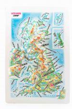 Iso-Britannia. Kohokuviokartta. 3D Jääkaappimagneetti