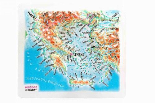 Greece. High raised relief panorama. 3D Fridge magnet