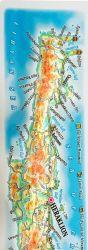 Crete. High raised relief panorama. 3D Fridge magnet
