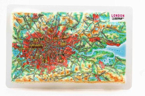 London. High raised relief panorama. 3D Fridge magnet