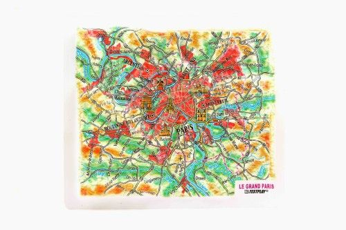 Paris. High raised relief panorama. 3D Fridge magnet