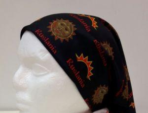 Ruslania. Bandana. Scarf. Black. The multifunctional seamless wear with logo