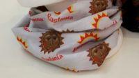 Ruslania. Bandana. Scarf. White. The multifunctional seamless wear with logo