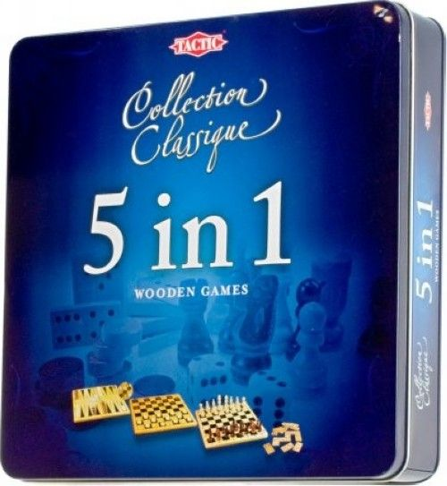 Collection Classic wooden games 5 in 1