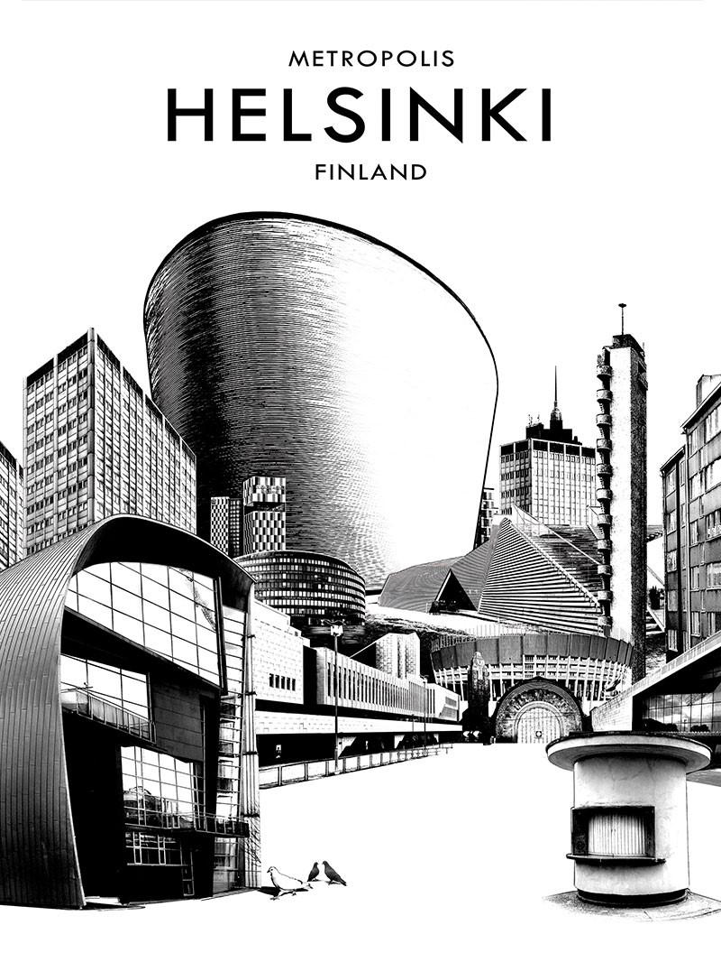 Postcard Metropolis Helsinki Finland