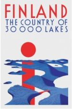 Postcard Finland the Country of 30 000 lakes