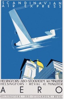 Открытка Aero Helsinki