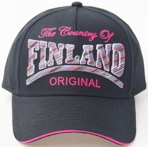 Lippis musta - Cap Original The country of Finland