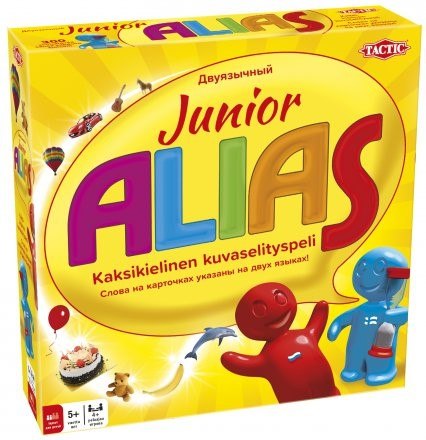 Board game Junior Alias. Bilingual Russian-Finnish for children.