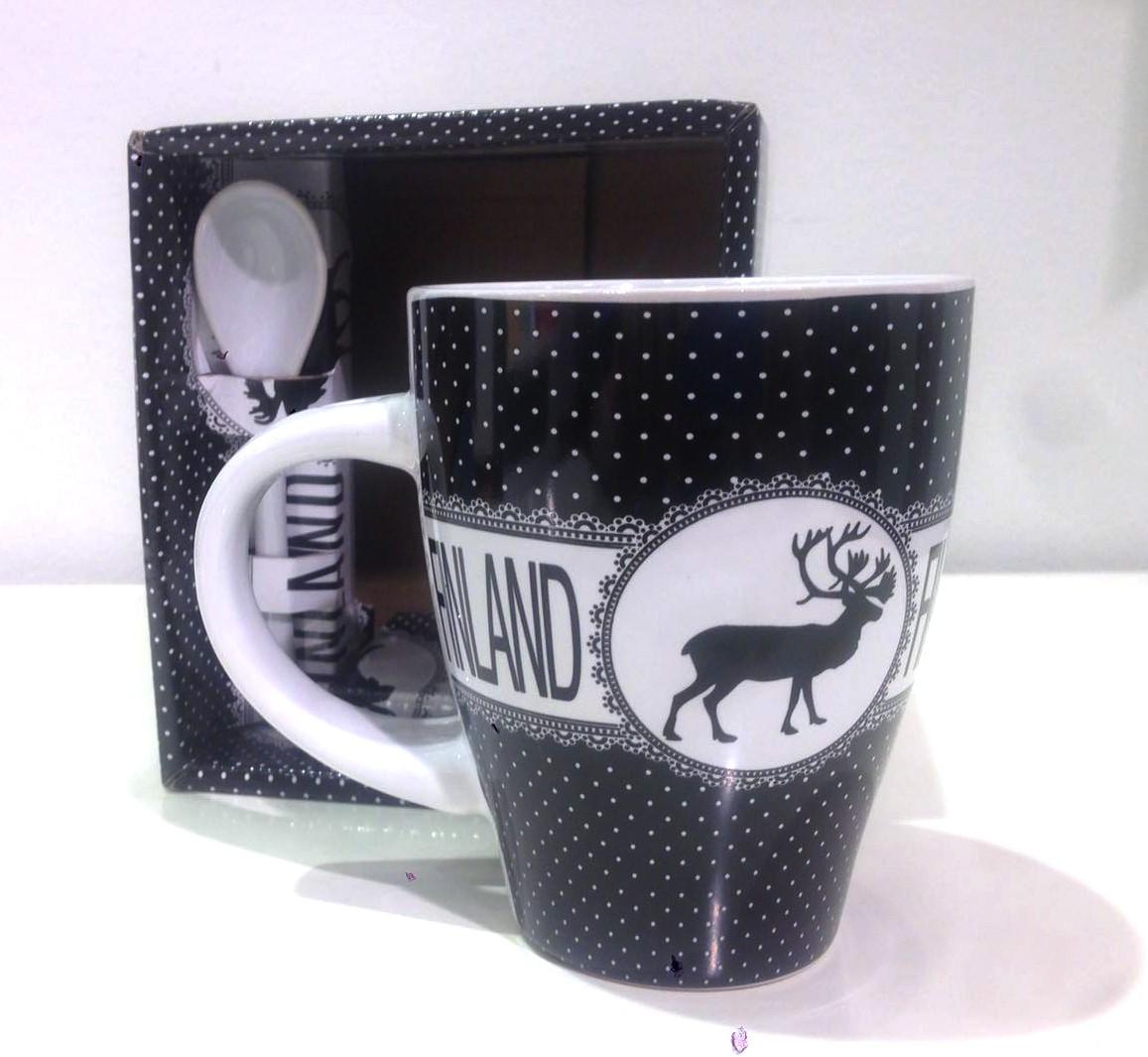Mug Vintage Finland Black/White