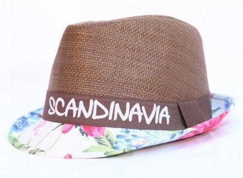 Летняя соломенная шляпа Flower Scandinavia