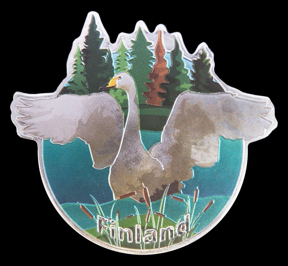 """Aluminum Magnet """"Finnish Swan"""""""