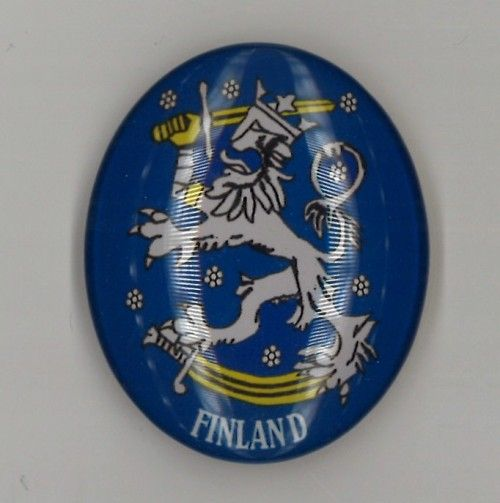 Glass magnet. Finnish lion. Finland