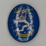 Glass magnet. Finnish lion. Finland