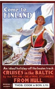 Postcard Come to Finland. An ideal holiday - Off the beaten track. Cruises in the Baltic by the Finland Line of Mail Steamers