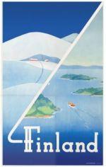 Postcard Finland winter - summer