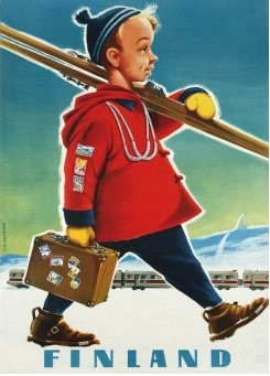 Postcard The Ski-boy