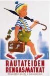 Postcard The umbrella guy