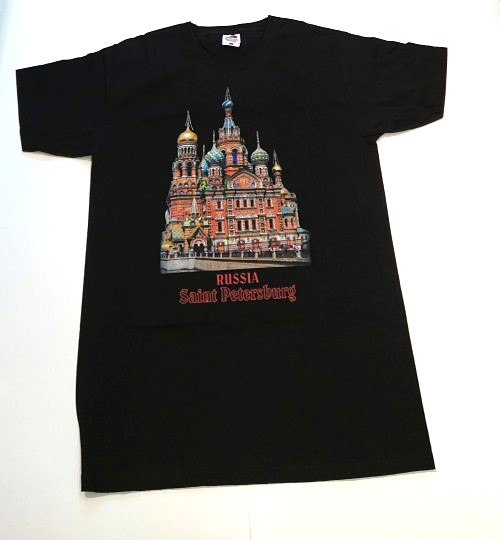 T-shirt Russia Saint Petersburg (black)