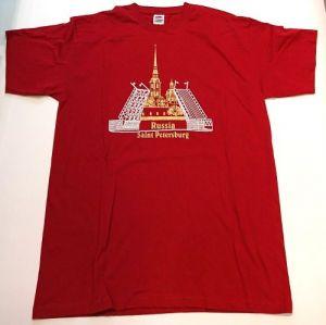 T-shirt Russia Saint Petersburg (dark red)