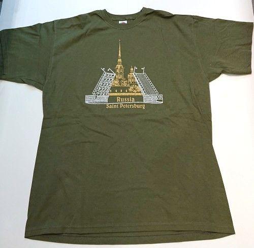 Футболка / T-shirt Россия Санкт-Петербург (хаки)
