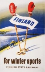 Postcard Finland for wintersports