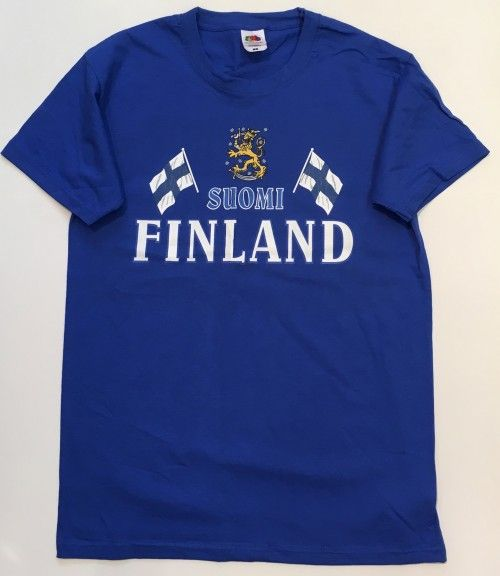 T-shirt blue Suomi Finland