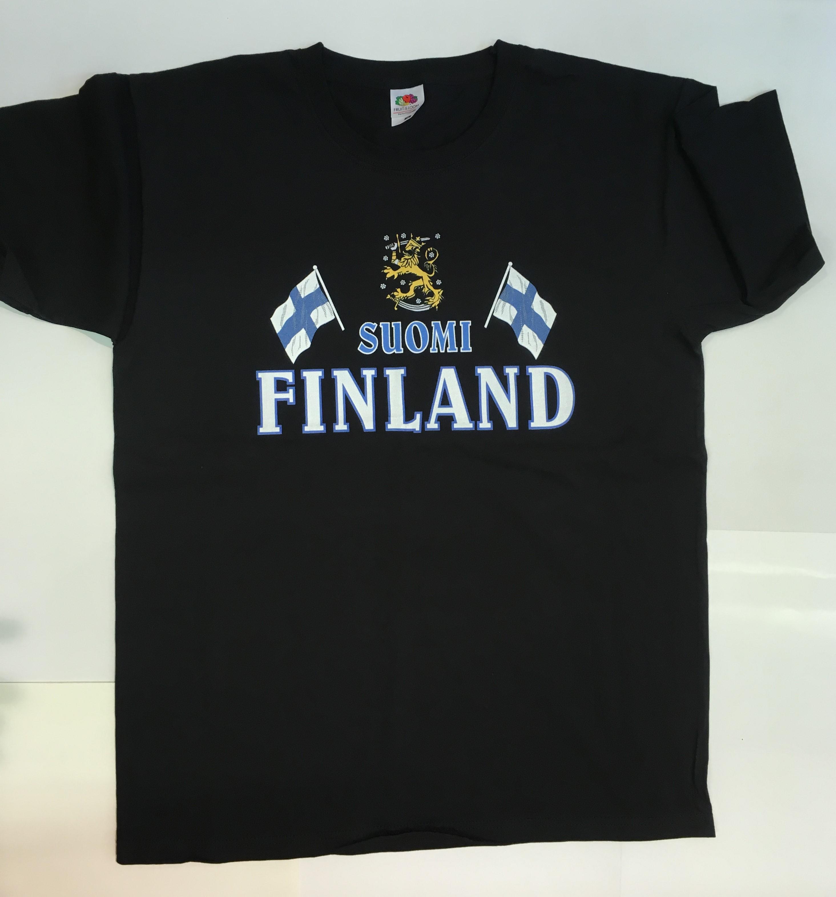 Футболка черная Suomi Finland