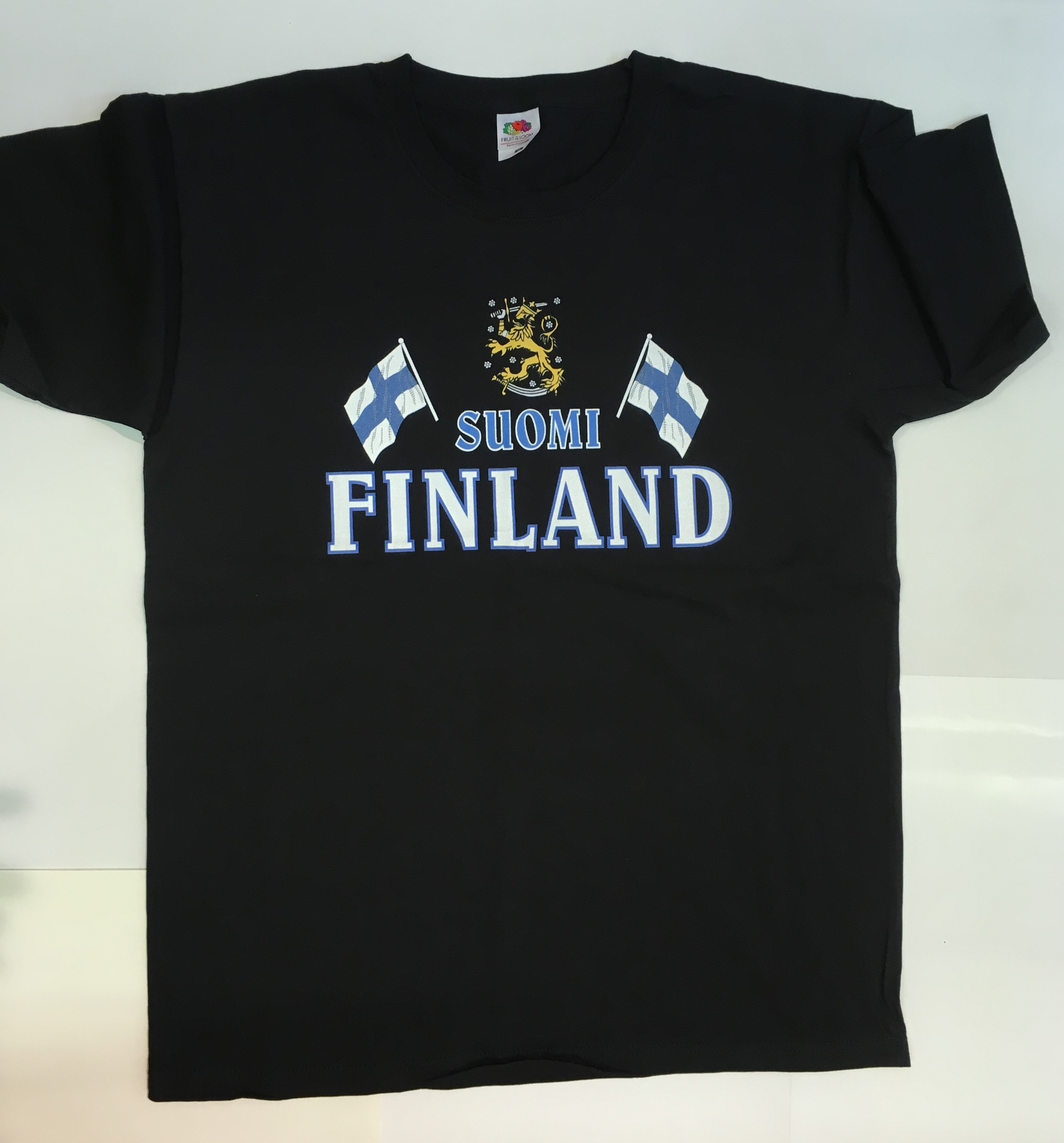 T-shirt black Suomi Finland
